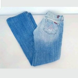"7 For All Mankind PINK ""A"" Pocket Jeans Size 26X32"
